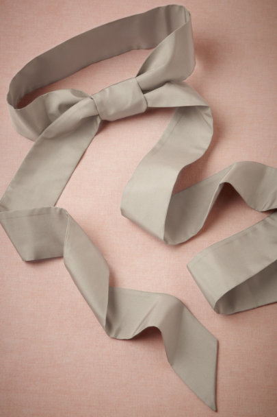 warm grey Simply Silk Sash | BHLDN