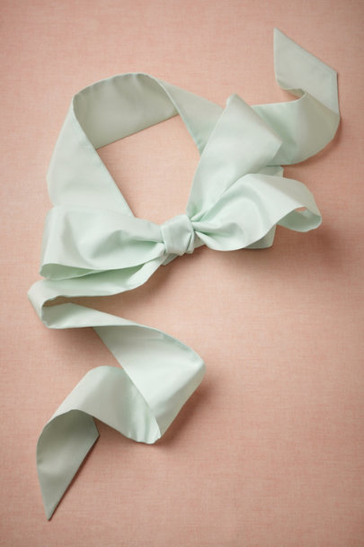 icy mint Simply Silk Sash | BHLDN