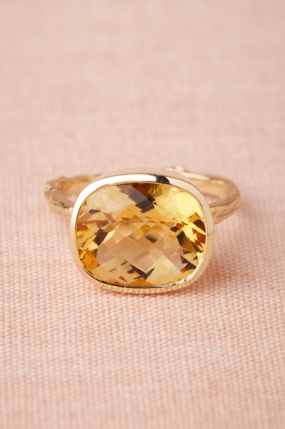 gold Pooling Citrine Ring | BHLDN