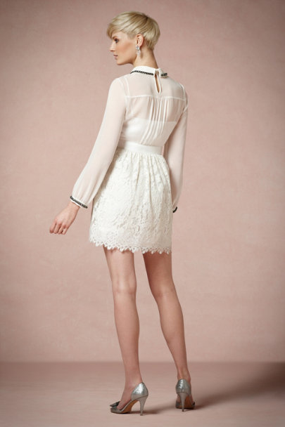 Milly White Tailleur Dress | BHLDN
