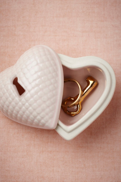soft pink Hearted Ring Box | BHLDN