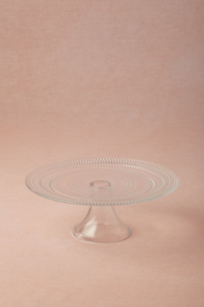 clear Lucent Hobnail Cake Stands | BHLDN