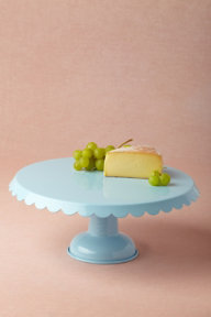 Scalloped Cake Stand, Blue