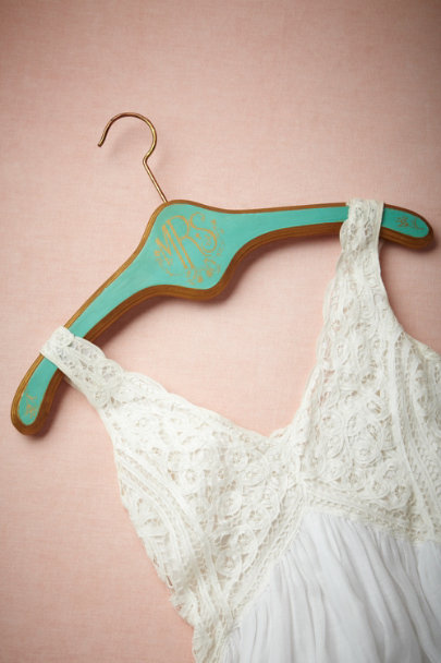 distressed TURQUOISE/Mrs Heirloom Hanger | BHLDN