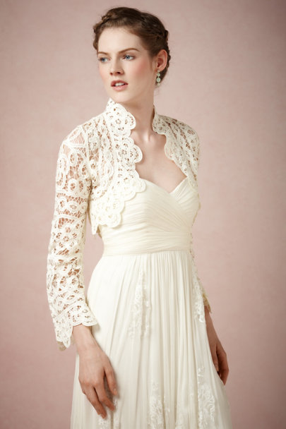 Harrison Morgan ivory Battenberg Bolero | BHLDN