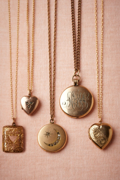 gold Codex Locket | BHLDN