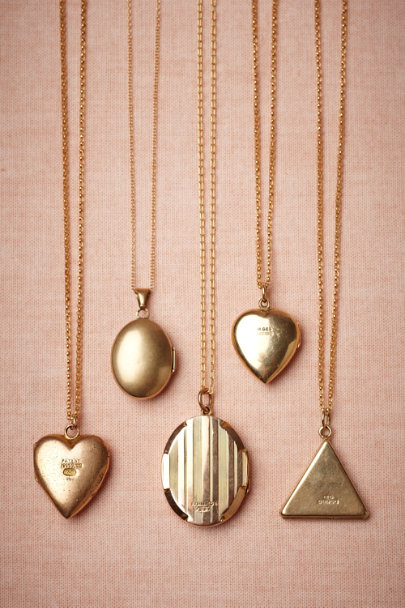 gold Ternion Locket | BHLDN