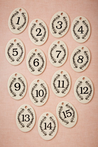 Chaplet Number Tags