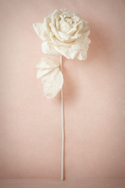 ivory Larger-Than-Life Paper Rose | BHLDN