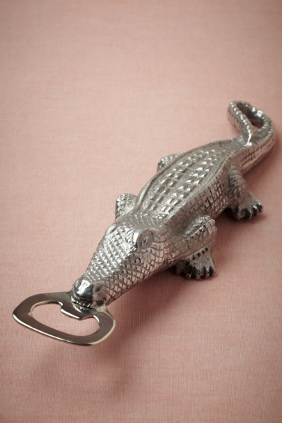 silver Alligator Bottle Opener | BHLDN