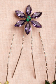 Large Wildflower Hairpins