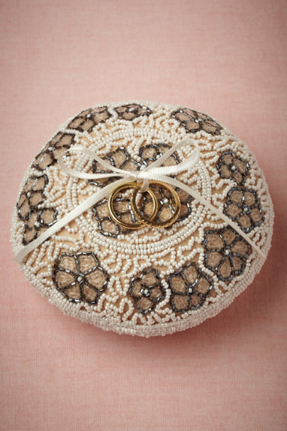 ivory Brocante Ring Pillow | BHLDN