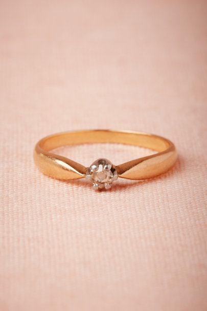 yellow gold Sovereign Ring | BHLDN