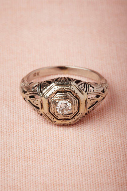 white gold Coup De Foudre Ring | BHLDN