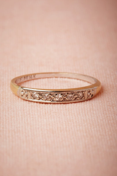 yellow gold Trellis Ring | BHLDN