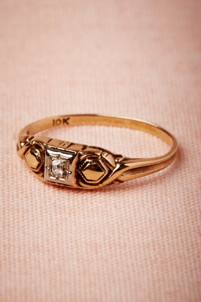 yellow gold Triumvirate Ring | BHLDN