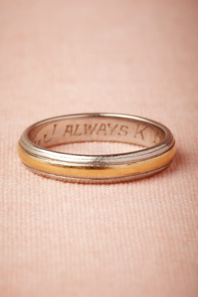 white gold Franquette Band | BHLDN