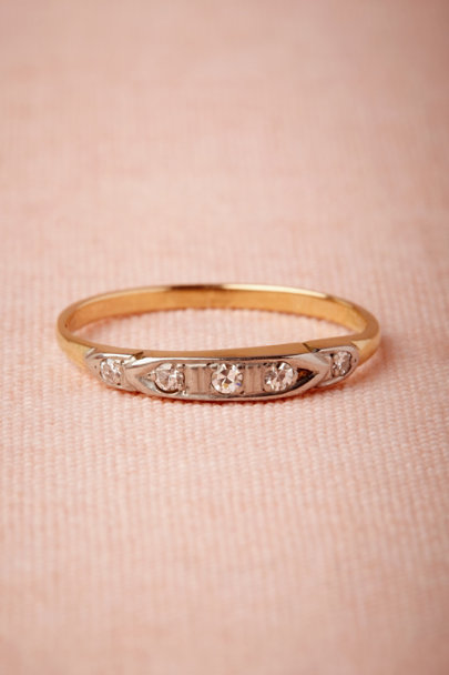yellow gold Cassandre Ring | BHLDN