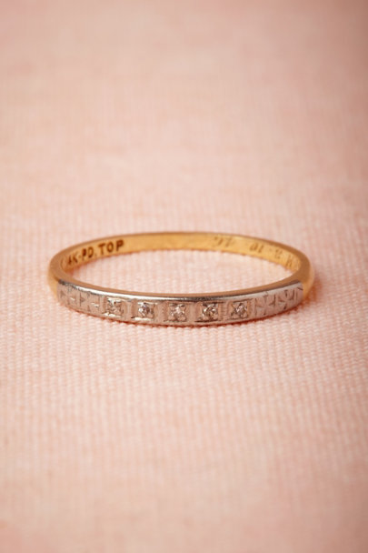 yellow gold Deux Fleurs Ring | BHLDN