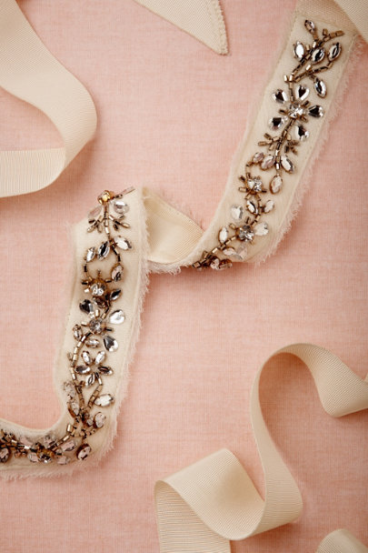 ivory Vineyard Sash | BHLDN