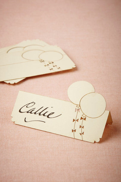 cream Balloon Place Cards (10) | BHLDN