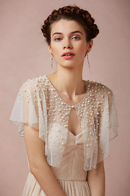 Scattered Pearl Capelet