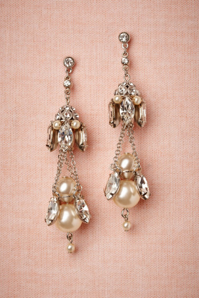 Debra Moreland silver Gilted Pearl Chandeliers | BHLDN