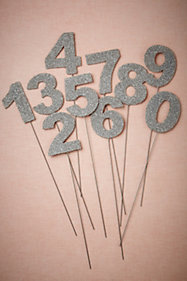 Glittered Number Stakes