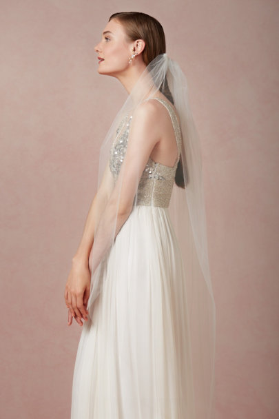 Debra Moreland Diamond White Suspended Mist Veil | BHLDN