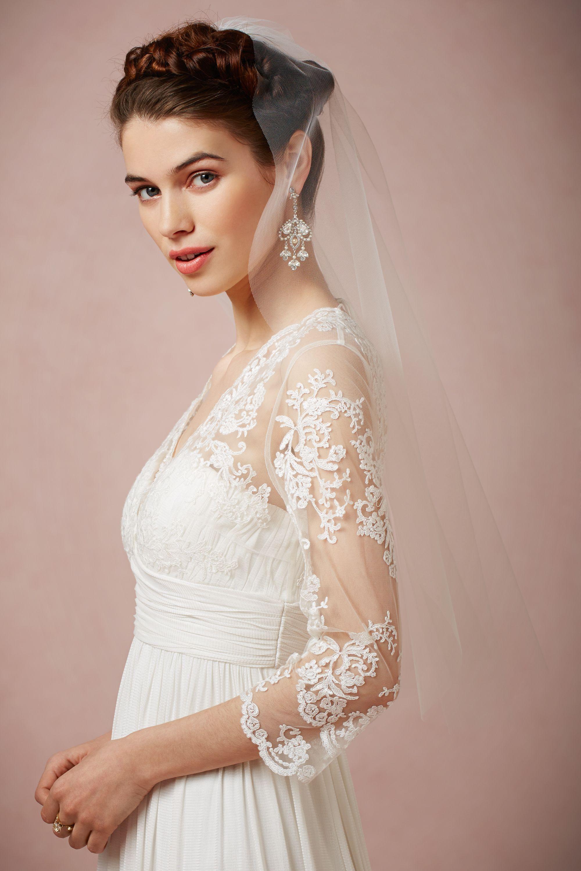 Wedding Bride Veil blusher veils short wedding bhldn tisha blusher