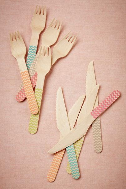 assorted Birch Chevron Flatware (20) | BHLDN