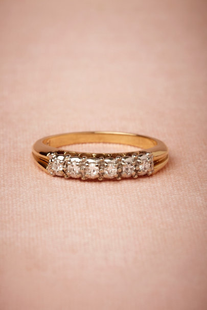 gold Elysse Ring | BHLDN