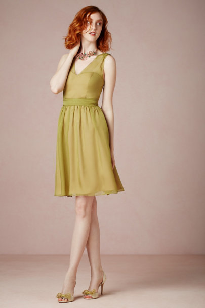 light olive Ainsley Dress | BHLDN