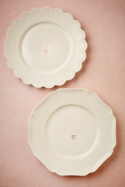 ivory I Do, Me Too Dinner Plates (2) | BHLDN