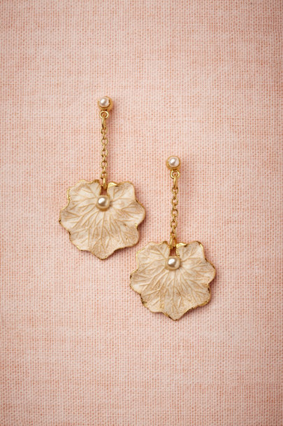 Debra Moreland pearl Lilypad Earrings | BHLDN
