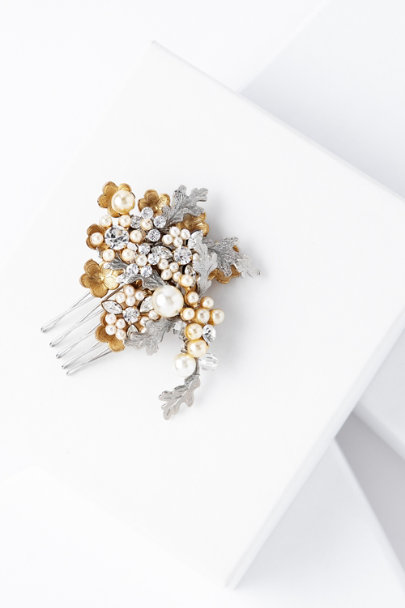 Debra Moreland pearl Golden Oak Hair Comb | BHLDN