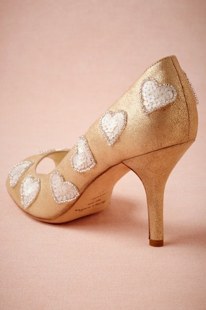 Bettye Muller GOLD Lovestruck Pumps | BHLDN