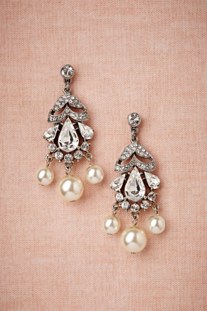 Ben-Amun pearl Luna Moth Earrings | BHLDN