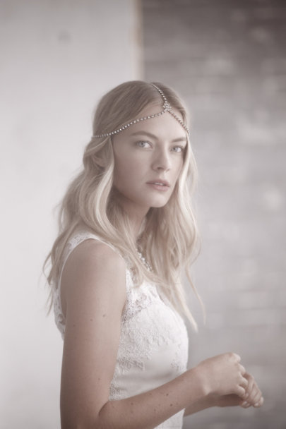 Jennifer Behr antique gold Regnant Halo | BHLDN