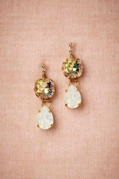 crystal Reflective Ray Earrings | BHLDN