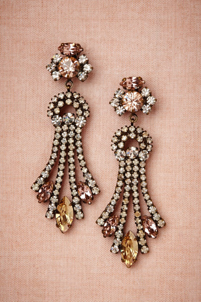 vintage rose Fontaine Earrings | BHLDN