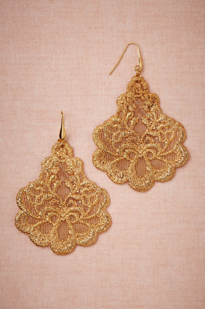 gold Oria Earrings | BHLDN