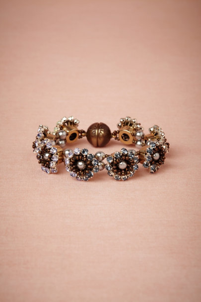 Tataborello blue motif Ombre Bloom Bracelet | BHLDN