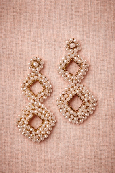 ivory Aperture Earrings | BHLDN