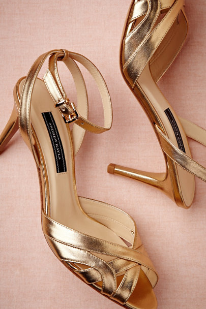 gold Goldleaf Peep-Toes | BHLDN