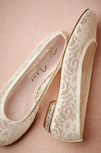 Harriet Wilde ivory Lille Flats | BHLDN