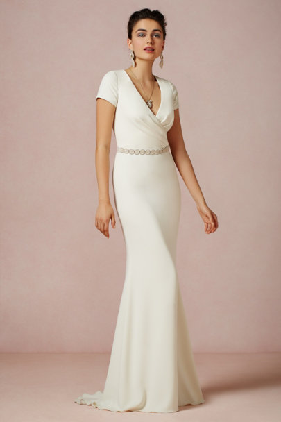 Badgley Mischka ivory Isis Gown | BHLDN