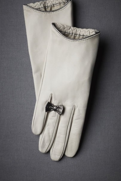 grey Platinum Promise Gloves | BHLDN