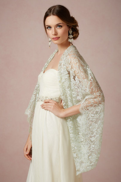 celadon/gold Seagold Wrap | BHLDN