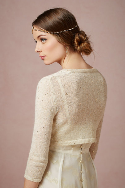 Harrison Morgan ivory Gold Dust Topper | BHLDN